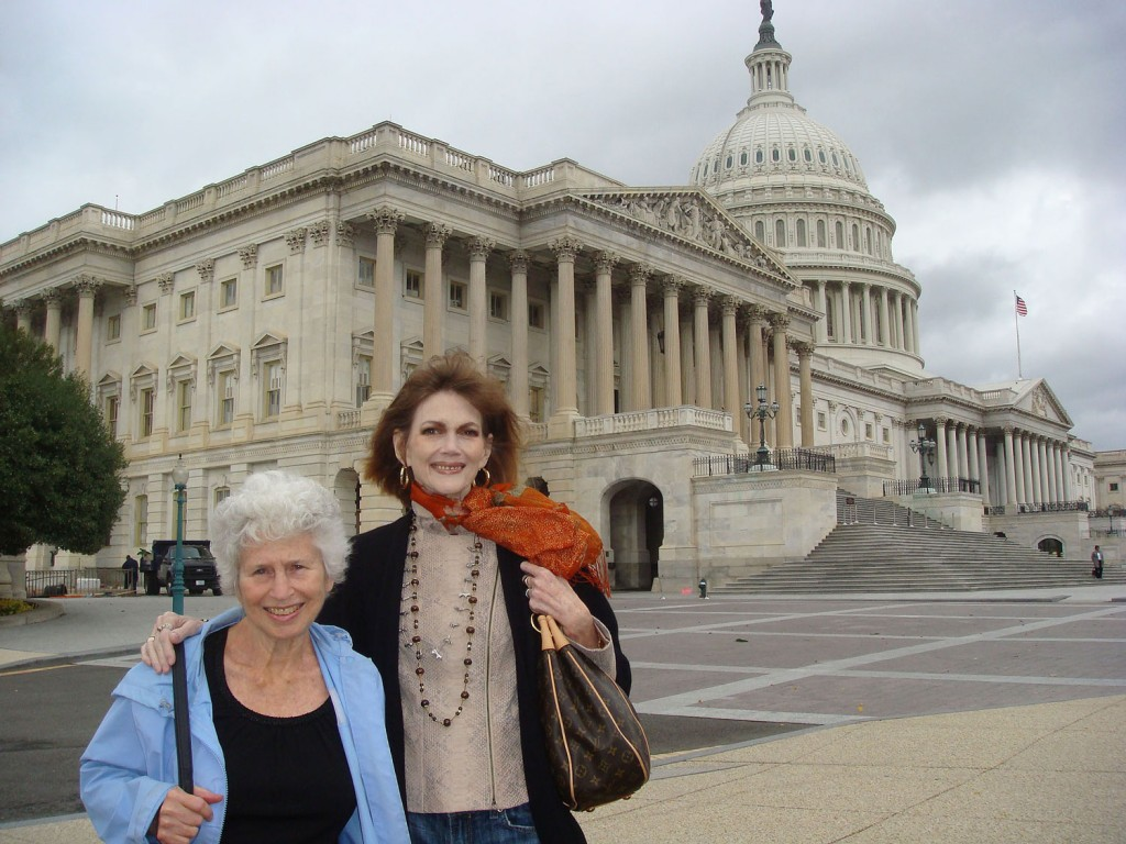 Barbara Wasserman and Norris Church Mailer, 2009 (Photo: Donna Lennon)